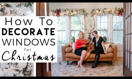 CHRISTMAS DECORATING | How to Decorate Windows for Christmas | Kinwoven Christmas