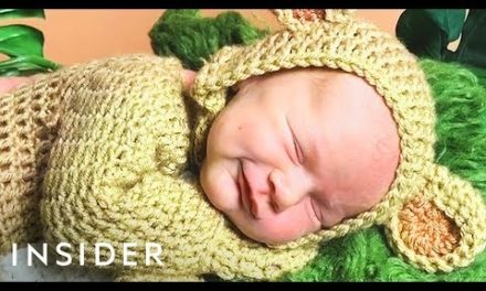 Baby Photographer Crochets Custom Costumes for Her Shoots
