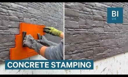 Stamps Can Make Plain Concrete Look Like Masonry
