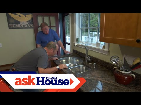 How to Secure an Undermount Kitchen Sink   Ask This Old House